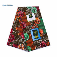 Veco-friendly Real Printed Wax African Fabric Real Wax Cotton Ankara Fabric For Patchwork Dress 24FS1069