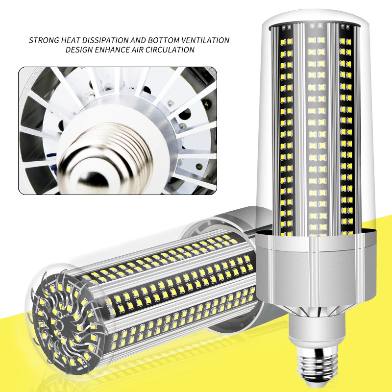 10pcs E27 LED Corn Lamp E39 E40 Garage Light 80W 100W 120W 150W 200W Warehouse  Market  Factory CommercialLight Wholesale Cheap