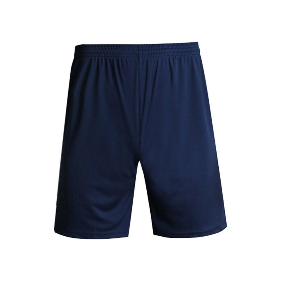 Тренажерный зал Фитнес однотонные обучение Дышащие Беговые Для мужчин шорты спортивные Футбол с эластичной резинкой на талии, быстросохнущая Спортивная Повседневное - Цвет: Navy Blue