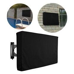 Protetor de tela de microfibra para tv, alta qualidade, oxford, preto, capa de tv ao ar livre, à prova de poeira, para tv