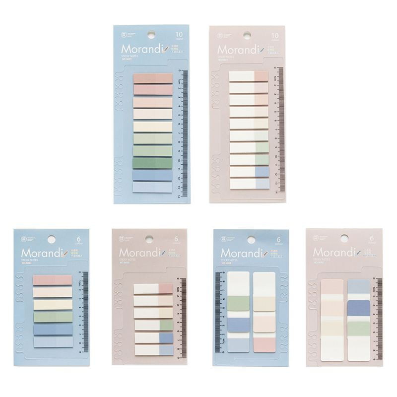 60/120/200 Sheets PET Planner Stickers Index Tabs Flag Bookmark Stationery Sticky Notes School Supplies