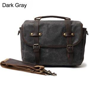 Image 5 - DSLR Camera Bag Fashion Grazy Horse Leather Shoulder Bag Hand Bags For Canon Nikon Sony Lens Pouch Bag Waterproof Photo Bag