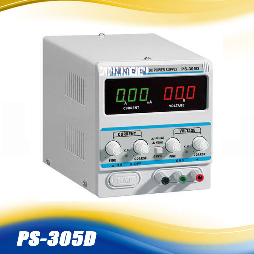 1PC ZHAOXIN Variable 30V 5A DC Power Supply For Lab PS-305D Adjustment Digital Regulated DC Power Supply