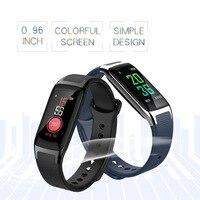 Moda inteligente pulseira ip67 à prova dips água ips tela colorida homens relógio inteligente monitor de freqüência cardíaca pedômetro inteligente com pulseira de silicone|Pulseiras inteligentes| |  -