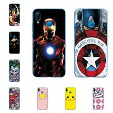 Ample Cases Coque For Huawei P20 Lite Flower iron Man Case Cover Soft Silicone For Huawei P20Lite Fundas Back Cover(China)