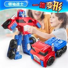 Alloy Transforming Toy ptimus Prime Transformer Leader Warrior Fire Truck Warrior Boy Model Big Size Toy  Child