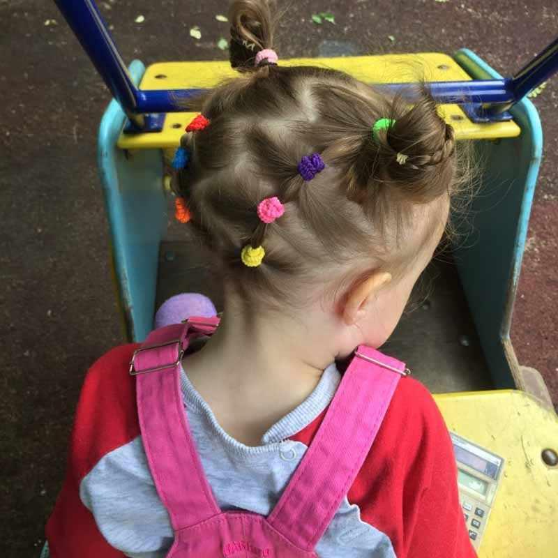 100 pièces en gros filles 1.5cm coloré petit anneau élastique bandes de cheveux élastique pour queue de cheval bandes de caoutchouc Scrunchie enfants accessoires de cheveux