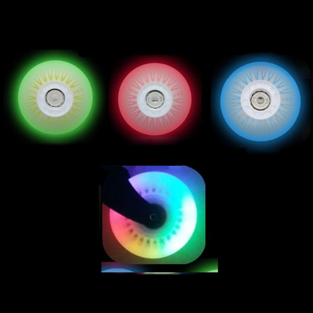4pcs Led Inline Roller Skate Wheels Replaces Luminous  Skating Flashing Skates Wheels 90A 72/76/80mm For 608ZZ ABEC-7 Bearings