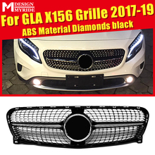 X156 Grille Grill Diamonds Grills Without SignFor MercedesMB GLA Class GLA180 GLA200 GLA250 Look ABS Black 2017-2019