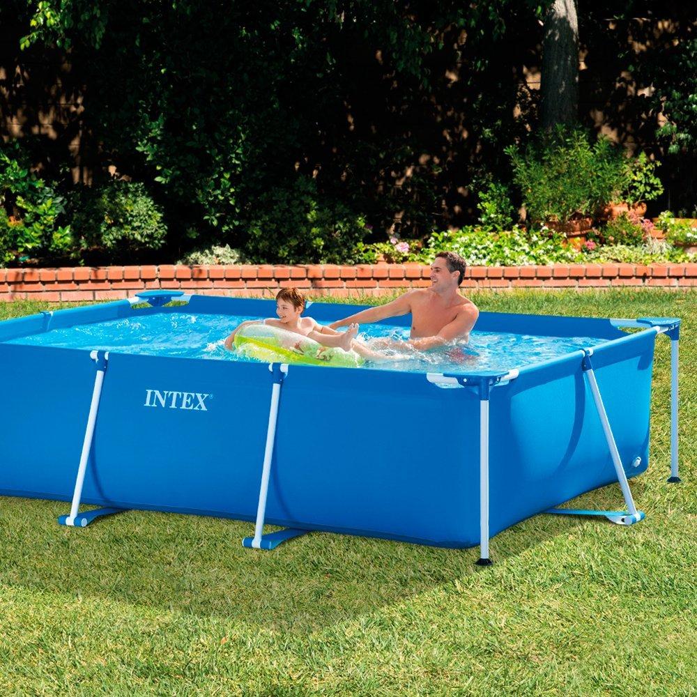 Rectangular Swimming Pool Above Ground Intex Frame 300 X 200 H 75 Cm 28272 Frame Pool Pool Poolpool Swimming Aliexpress
