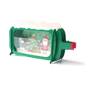 Christmas Greeting card three-dimensional 3D Handmade Gift Card Thank You Card