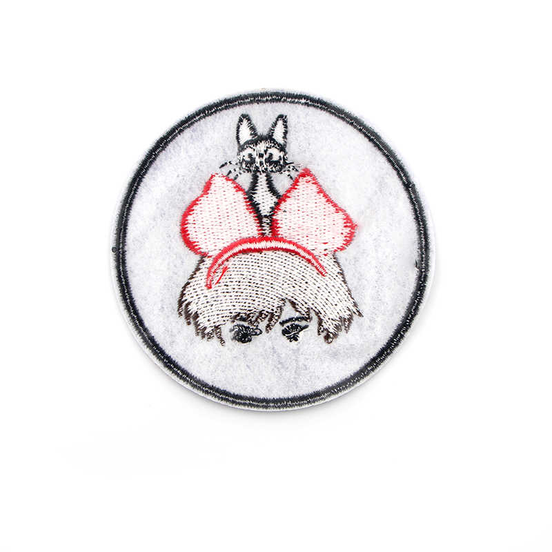 Kiki consegne a Domicilio Del Fumetto Ferro Ricamato Patch di Thermotolerant Applique Per L'abbigliamento Adesivi Fai Da Te Per Cucire Distintivo G0085