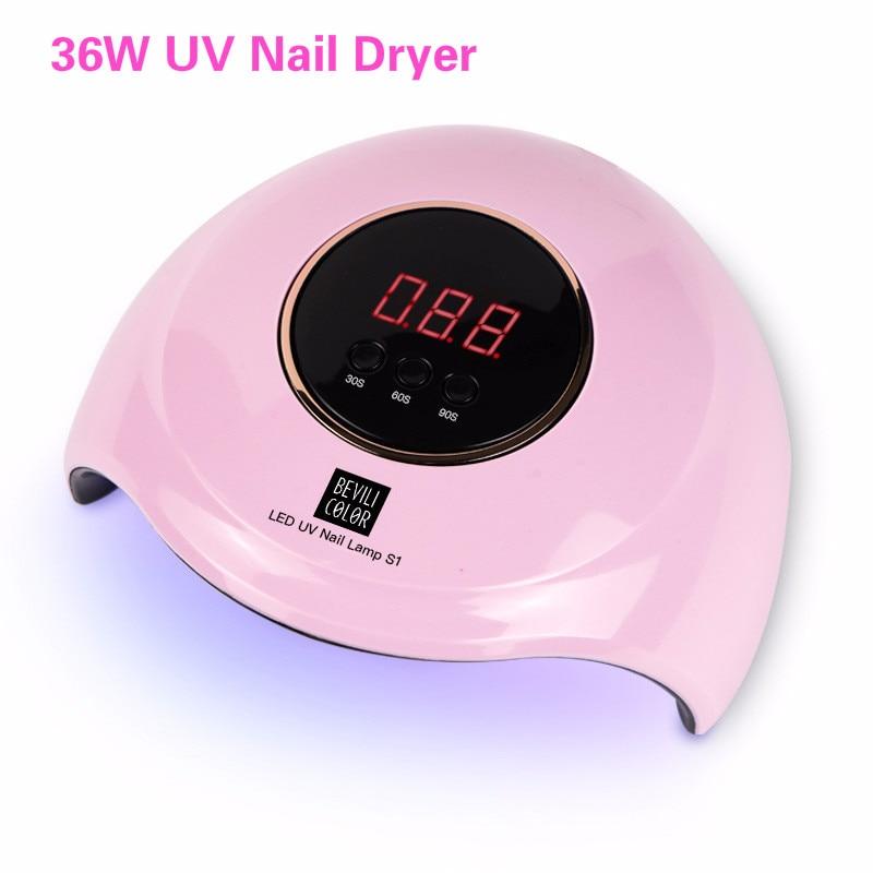 Professional USB Nail Dryer UV LED Lamp Smart Sunlight Curing All Gel Polish Non-harmful Fast Dry Nail Art Machine 36W