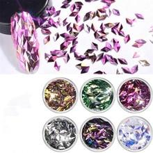 Nail art accessories wholesale 3D diamond sequins three-dimensional laser colorful 6 color set