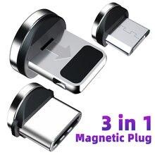 Kabel magnetyczny gniazdo wtykowe Micro rodzaj USB C magnetyczny przewód ładujący Adapter USB C Microusb złącze magnetyczne wtyczki do telefonów komórkowych