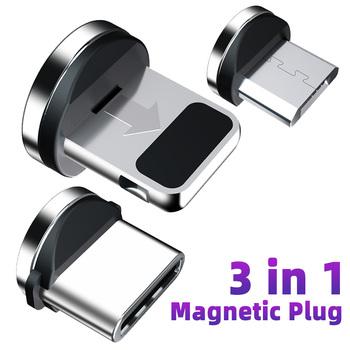 strong Import List strong Kabel magnetyczny gniazdo wtykowe Micro rodzaj USB C magnetyczny przewód ładujący Adapter USB C Microusb złącze magnetyczne wtyczki do telefonów komórkowych tanie i dobre opinie ANMONE TYPE-C Micro Usb 2 4A CN (pochodzenie) Metal