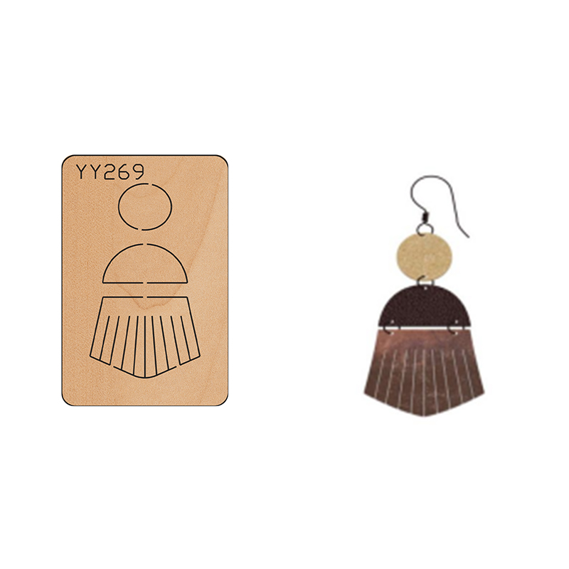 Wood Mold Earrings Cut Mold Earring Wood Mold YY269 Is Compatible with Most Manual Die CutTassel Earrings