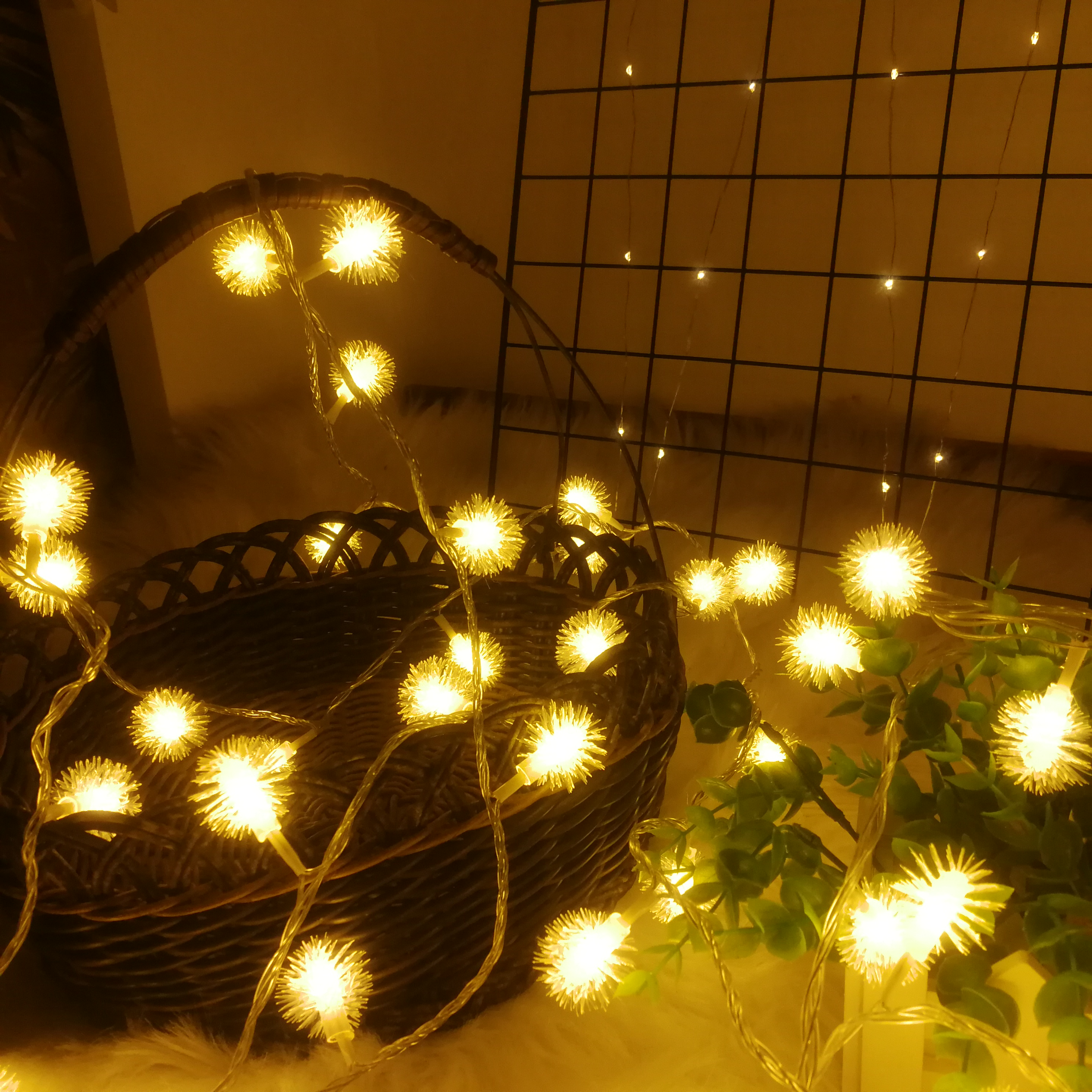 Dandelion Christmas Ball Lights String LED Twinkle Fairy Garland  Warm And Sweet