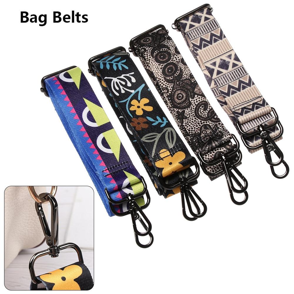 New Nylon Colored Belt Bag Strap Accessories For Women Rainbow Adjustable Shoulder Hanger Handbag Straps Decorative Chain Bag