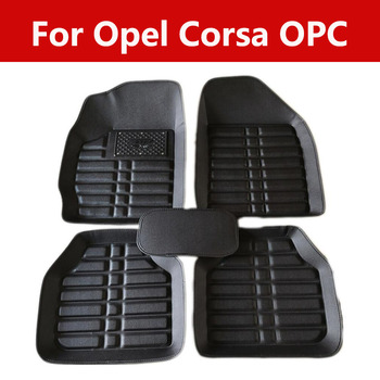 Car Floor Mats Auto Front Rear Case Decoration For Opel Corsa Opc All Weather Protector Mat image