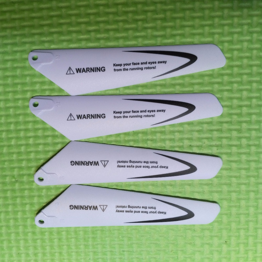Free Shipping  Main Blades Props Fans Rotors Length 8.4cm For S5 W25 S111G S109 S800G SYMA R/C Mini Helicopters Toys Spare Parts