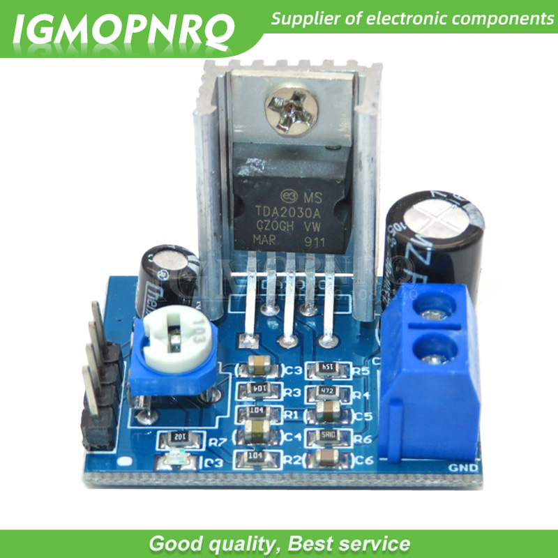 1 шт. 6-12 в одиночный источник питания TDA2030A TDA2003 Плата усилителя звука