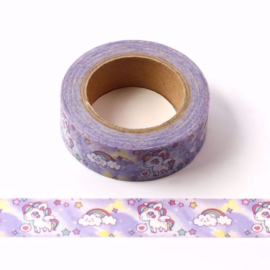 15mm*10m Dream Rainbow Unicorn Bullet Journal Washi Tape Adhesive Tape DIY Scrapbooking Sticker Label Japanese Stationery