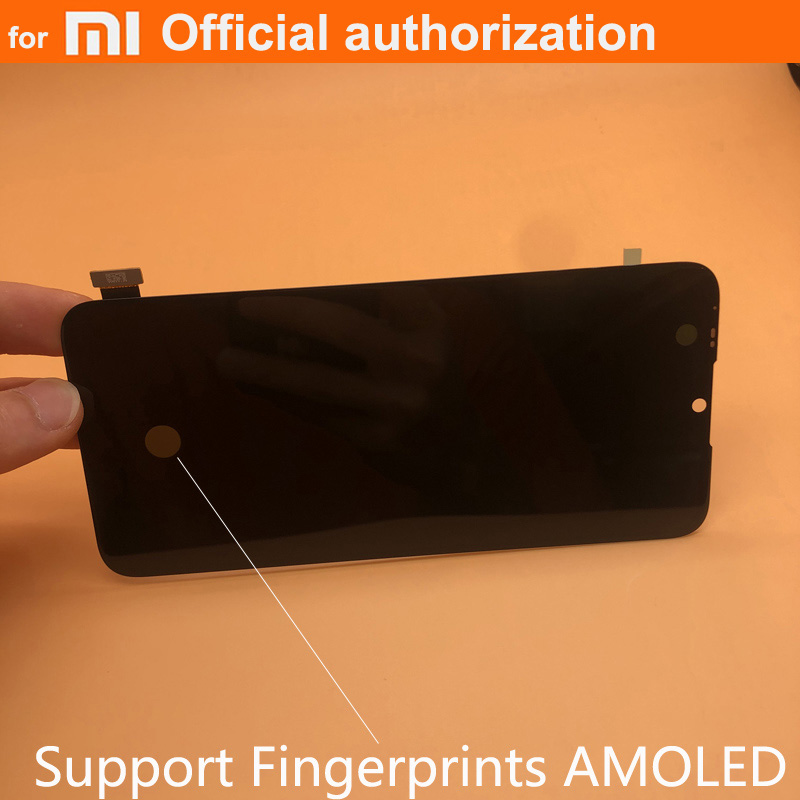 Fingerprints NEW OEM AMOLED LCD Display Parts For Xiaomi Mi A3 cc9e lcd Touch Screen Digitizer Assembly for Xiaomi MiA3 LCD(China)