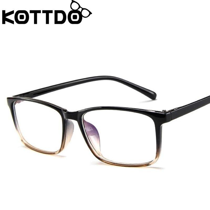 KOTTDO классические квадратные оправы для очков для женщин винтажные очки для чтения по рецепту для мужчин Мужские очки кадры      АлиЭкспресс