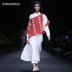 Donoratico Women's Spring New Original Hand-painted Romantic Floral Long-SleeveD Shirt Retro Elegant Mid-Length Shirt
