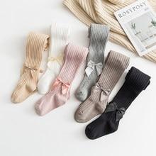 YWHUANSEN 0-10 yıl çocuk bahar sonbahar kış ilmek tayt pamuk bebek kız külotlu çocuk bebek örme Collant tayt