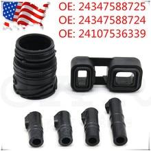 6PCS 6HP19 6HP21 Sleeves Connector Adapter Seal kit For BMW E60 E53 E65 E66 530xi 530i 24107536339 / 24107536340 / 24107536341