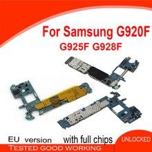 32GB/64GB/128GB For Samsung galaxy S6 G920F Motherboard S6 edge G925F Motherboard S6 edge+ G928F Motherboard & back camera