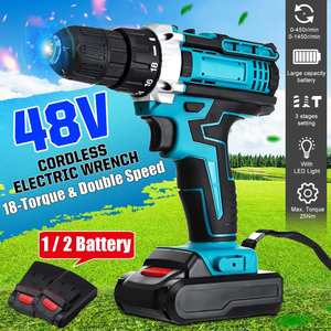 48V 2-Speed Cordless Drill Ele