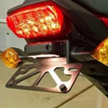 Universal Motorcycle License Plate Holder Frame Bracket LED Light For Honda CB 599 919 400 CB600 CBR 600 For Yamaha MT09 TMAX universal motorcycle license plate bracket holder with led light for honda rebel ca250 cmx250c cmx250 xl600lmf xadv 750