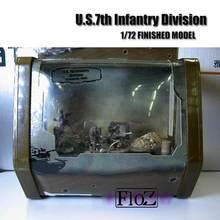 Wwii u. s.7th infantaria divisão 1/72 terminou 5 figuras modelo conjunto resina fov