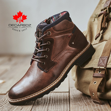 DECARSDZ Men Boots 2020 Autumn & Winter Fashion Shoes Men's Boots Men Casual Boots Luxury Leather Men Shoes Comfy Botas Hombre