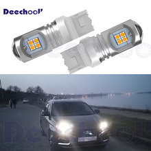 2x T20 7443 7444 W21/5W LED Bulbs for Lada DHO  Vesta Kalina Accessories Front Dimension Light Lamp Pure White
