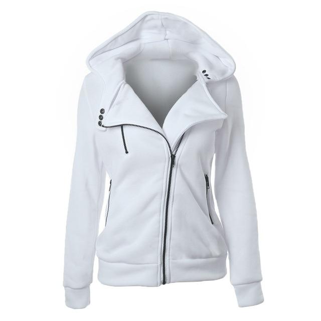 2020 Zipper Warm Fashion Hoodies Women Long Sleeve Hoodies Jackets Hoody Jumper Overcoat Outwear Female Sweatshirts 4