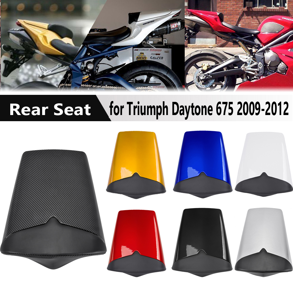 For Triumph Daytona 675 2009-2012 Motocycle Accessories Rear Tail Pillion Solo Seat Cowl Fairing Seat Cover 2010 2011