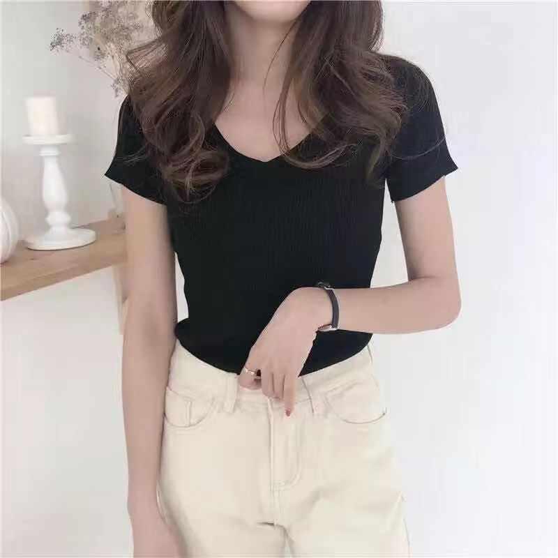 Women Casual Harajuku T Shirt  Summer Short Sleeves Casual  Female T Shirt Fashion Top Short Sleeve Plus Size T-shirt For Lady