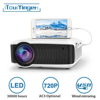 TouYinger T4 mini projektor LED HDMI 1280x720 Tragbare Beamer USB Home Cinema (Optional AC3 Verdrahtete Sync Display für Telefon Tablet)