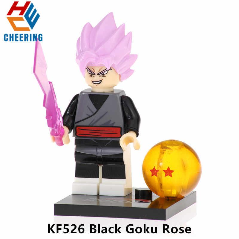 Única Venda Blocos Bola Son Goku Vegeta Goku Preto Rosa Uub Hit Kuririn Figuras Bricks Bonecas Brinquedos Para As Crianças KF525