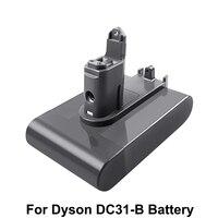 Batería recargable de iones de litio de 22,2 V y 4000mAh para aspiradora Dyson DC31, DC34, DC35, DC56, DC44, baterías de repuesto de animales tipo B