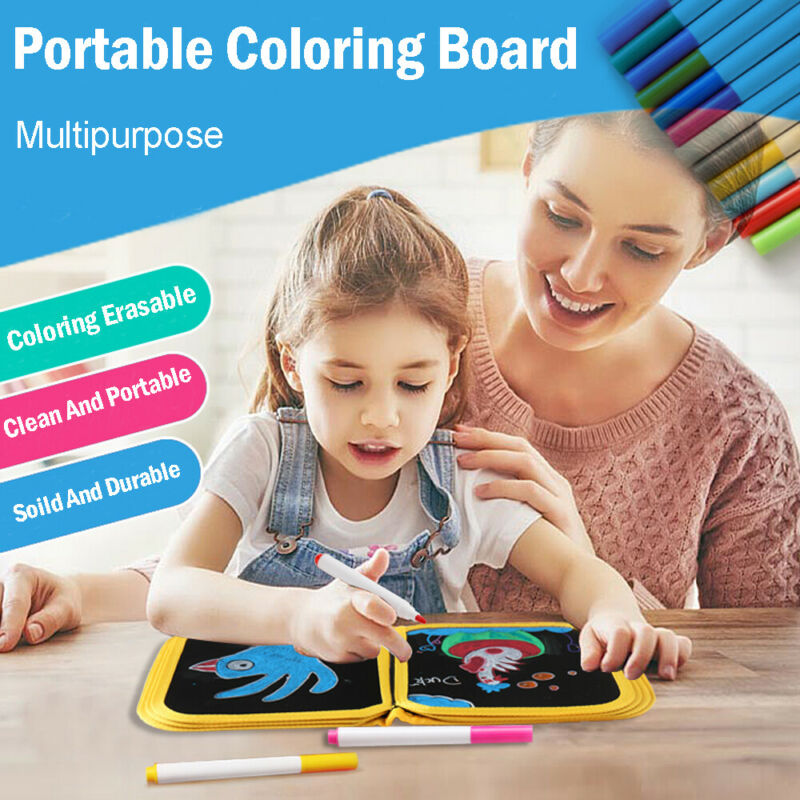 Erasable Magnetic Easy Writing Drawing Board Pad+Pen Kids Xmas Gift Doodle Toys
