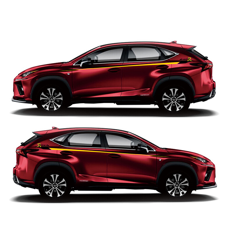 car styling sport car sticker for <font><b>Lexus</b></font> NX200 <font><b>NX300h</b></font> Mark Levinson Auto Body Customized Decal Exterior Accessories image