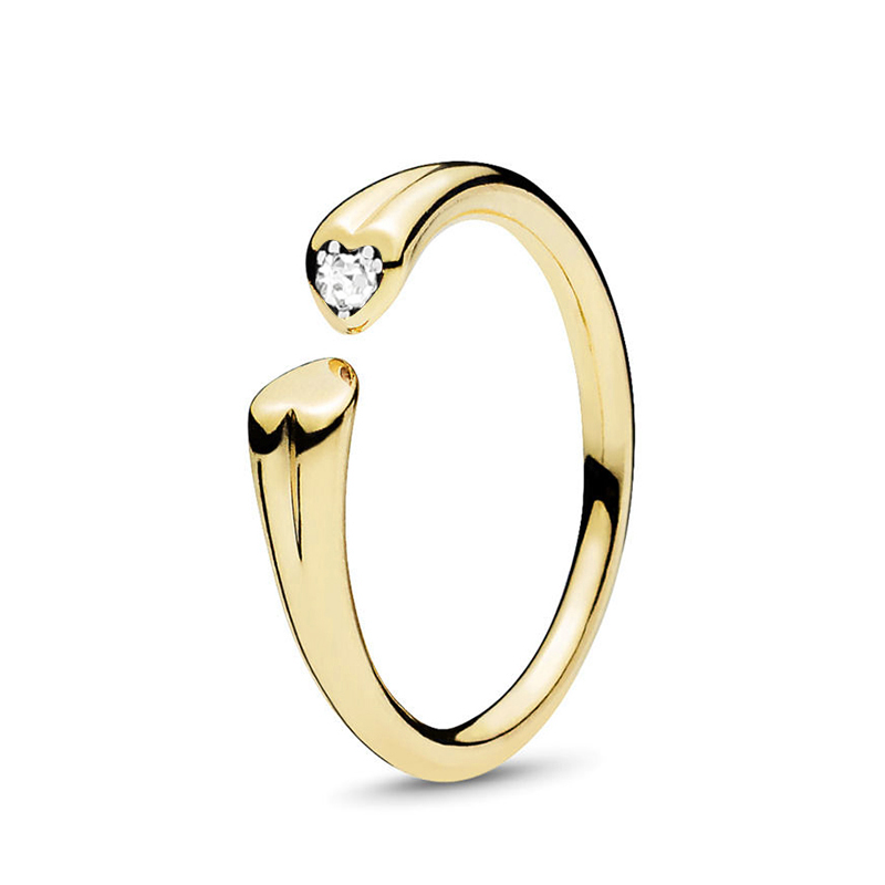 Кольцо на палец в форме сердечко серебряного цвета для женщин, европейская оригинальная Корона, изящные кольца на палец, свадебные украшения, 50 стилей, Прямая поставка - Цвет основного камня: Rings 045