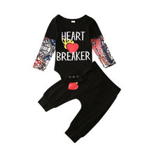 Girls Legging Baby Tracksuit Outfits Pants Jumpsuit Infant 0-18-Months Fashion Print