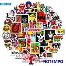 52 Uds Rock and Roll banda de música Punk pegatinas para teléfono móvil portátil equipaje guitarra funda monopatín bicicleta coche pegatinas R
