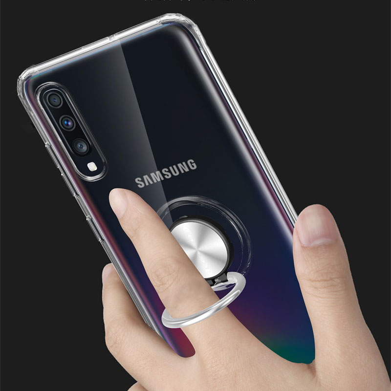 For <font><b>Samsung</b></font> <font><b>Galaxy</b></font> <font><b>A70</b></font> <font><b>Case</b></font> Cover Clear TPU <font><b>Ring</b></font> Phone <font><b>Cases</b></font> For <font><b>Samsung</b></font> A10 A20 A20e A30 A30s A40 A50 A50s A60 <font><b>A70</b></font> A80 <font><b>Case</b></font> image